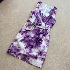 Banana Republic Purple Tie Dye Print Cotton Dress